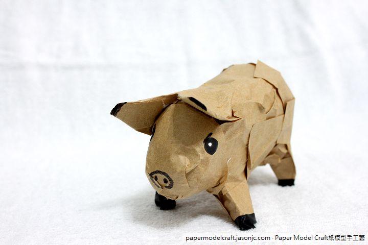 小豬仔紙模型