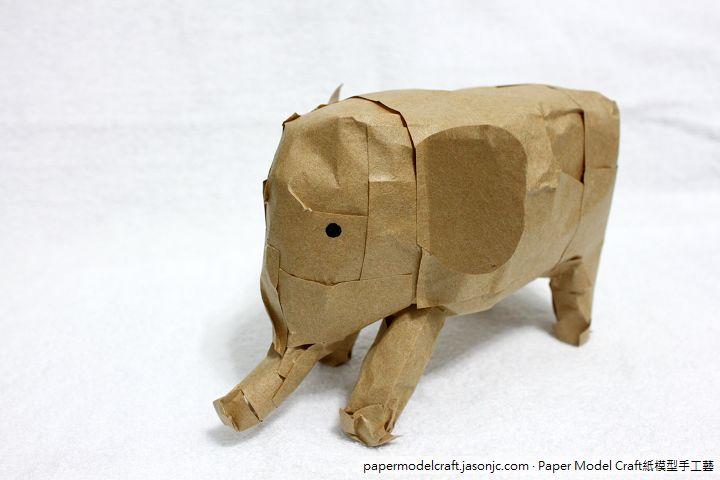 大象紙模型